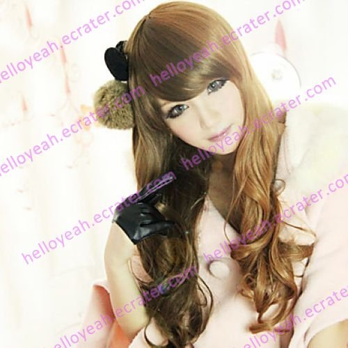 Lolita Wig Inspired by Sweet Beauty Qreen Zipper Mixed Brown 60cm Casual