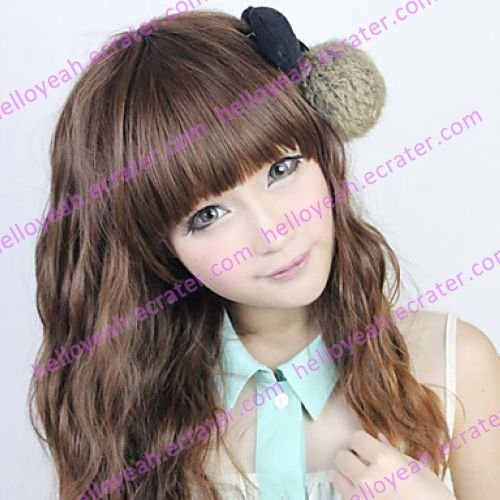 Lolita Wig Inspired by Zipper Curly Chocolate Mixed Color 60cm Casual