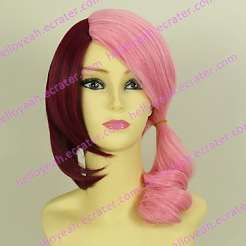 Tekken Lili Pink and Red Cosplay Wig