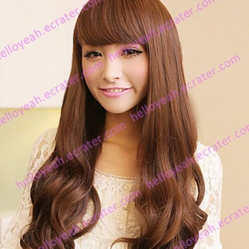 Zipper Brown 80cm Princess Lolita Wave Wig
