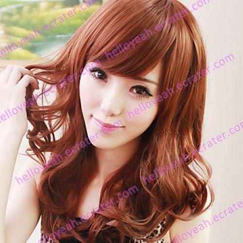 Zipper Brown 60cm Sweet Lolita Curly Wig