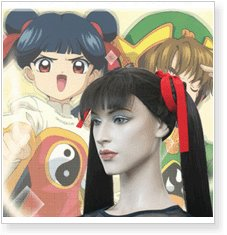 Cardcaptor Sakura Meilin Rae Cosplay Wig