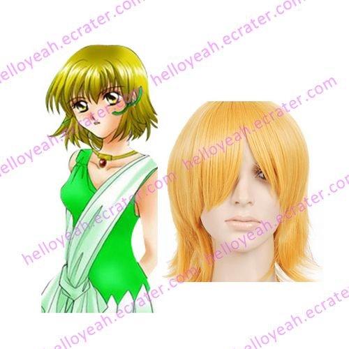 Deep Gold 35cm Gundam Seed Cagalli Yula Athha Nylon Cosplay Wig