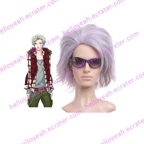 Light Purple Starry Sky Nanami Kanata 35cm Anime Nylon Cosplay Wig