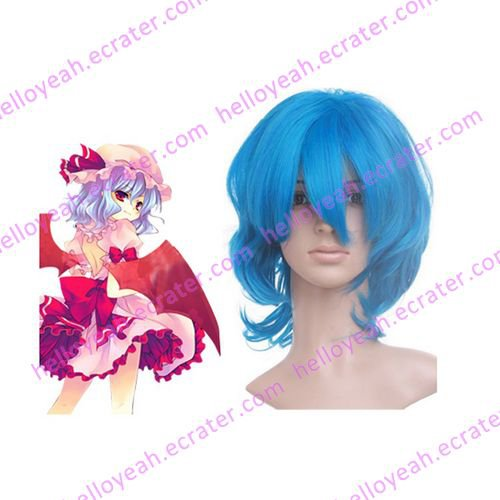 Deep Blue 40cm Touhou Project Remilia Scarlet Nylon Cosplay Wig