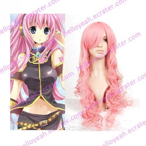 Pink 80cm VOCALOID MEGURINE LUKA Nylon Cosplay Wig