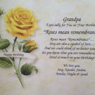Happy Birthday Gift for Grandpa, Grandfather, Father, Dad Personalized Poem