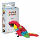 Amazing kit for assembling a modular origami parrot