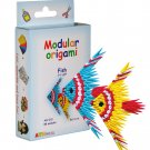 Amazing kit for assembling a modular origami fish