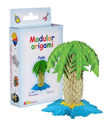 Amazing kit for assembling a modular origami palm