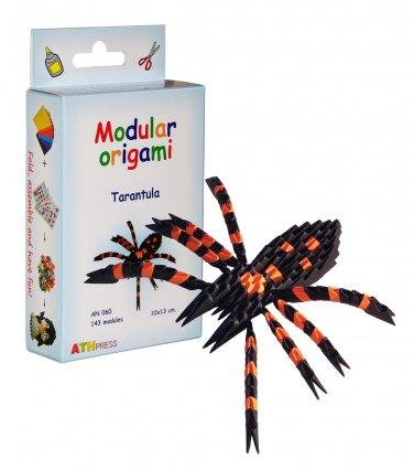 Amazing kit for assembling a modular origami tarantula