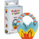 Amazing kit for assembling a modular origami basket