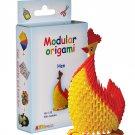 Amazing kit for assembling a modular origami hen