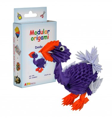 Amazing kit for assembling a modular origami Dodo