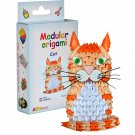 Amazing kit for assembling a modular origami cat
