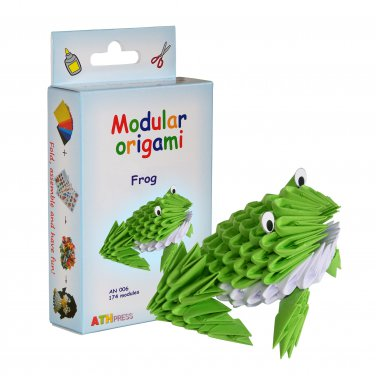 Amazing kit for assembling a modular origami frog