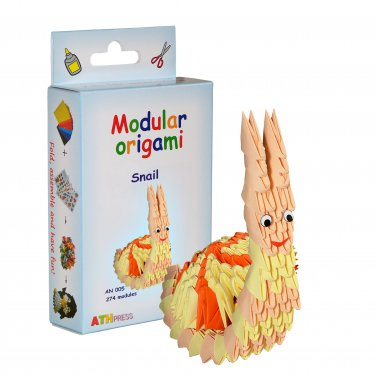 Amazing kit for assembling a modular origami snail