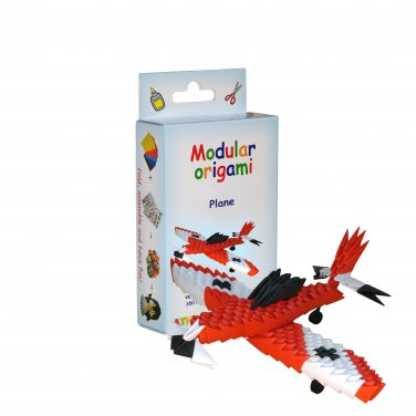 Amazing kit for assembling a modular origami Red Plane
