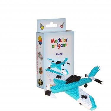 Amazing kit for assembling a modular origami Blue Plane