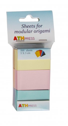 Modular origami sheets -  500 sheets mix  pale colors