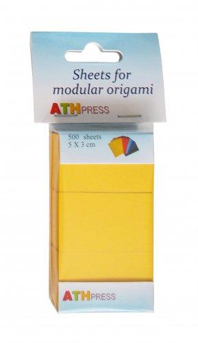 Modular origami sheets -  500 sheets mustard color