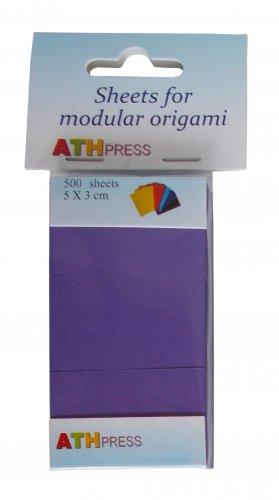 Modular origami sheets -  500 sheets violet color