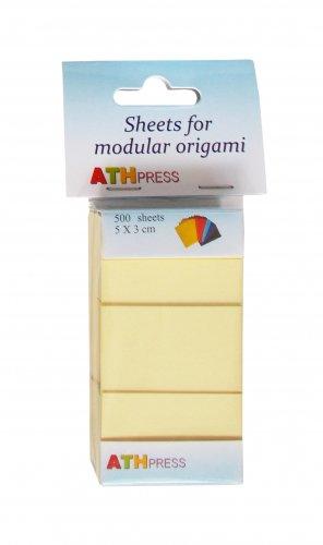 Modular origami sheets -  500 sheets yellow color