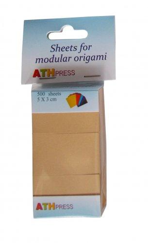 Modular origami sheets -  500 sheets camel color