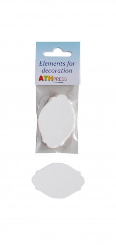 Ready-made elements for cards - Tags - 6 pcs./pack