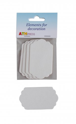Ready-made elements for cards - Tags - 4 pcs./pack