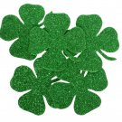 24 pcs EVA foam gliter 65/65mm Shapes Die Cut Clovers / Shamrock for your creative projects