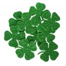 24 pcs EVA foam gliter 38/38mm Shapes Die Cut Clovers / Shamrock for your creative projects