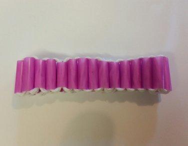 Pink Straw and cord Novelty Bracelet - Handmade