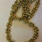 Gold beaded Necklace handmade
