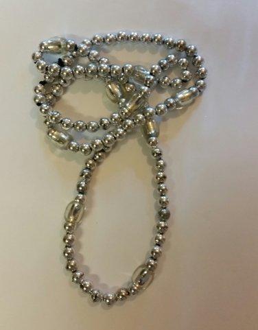 Silver Beaded Necklace handmade