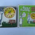 Rare Vintage Bugs Bunny Talking Alarm Clock w/ Original Box - Runs then Stops