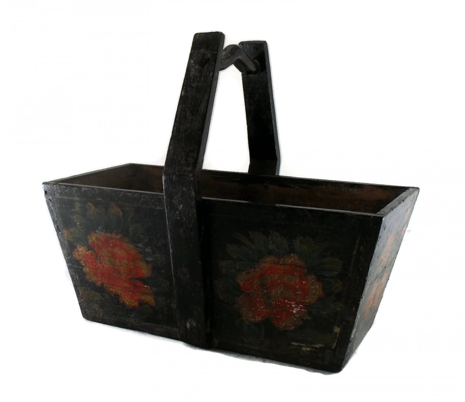 Chinese Antique Handmade & Painted Red flower Wedding Box