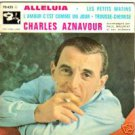 """CHARLES AZNAVOUR """"ALLELUIA"""" 45 EP BARCLAY FRANCE TOP!!!"""