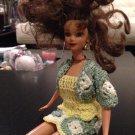 Barbie doll Skirt, tank top and bolero set