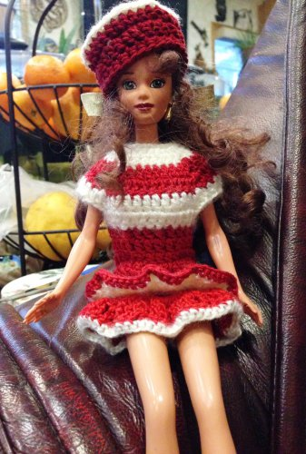 Barbie doll Red Dress