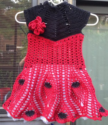 PATTERN - Red Dress for a girl