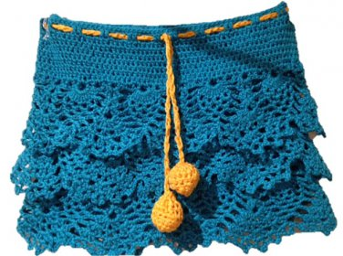 PATTERN - Blue Ruffle Skirt for girls