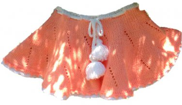 PATTERN - knitted Peach Skirt for girls