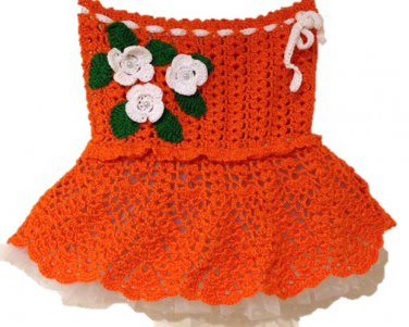 PATTERN - Orange Lace Skirt for girls