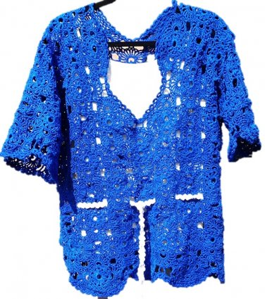 PATTERN - Summer Blue Sweater