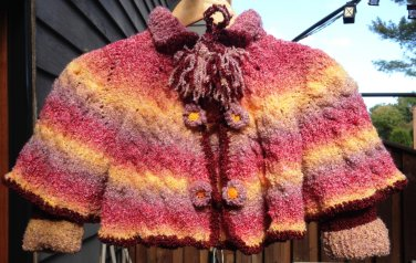 Rainbow Cape for Girls