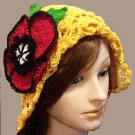 PATTERN - Hat with Poppy Seed flower