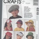 McCall's Caps and Hats Pattern Children 6210