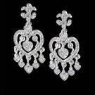 5 Carat Heart Shape Diamonds Earring Pair Hanging Chandelier