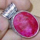 17 GRAMS NATURAL PIGEON BLOOD RED RUBY & .925 Sterling Silver Pendant jewelry